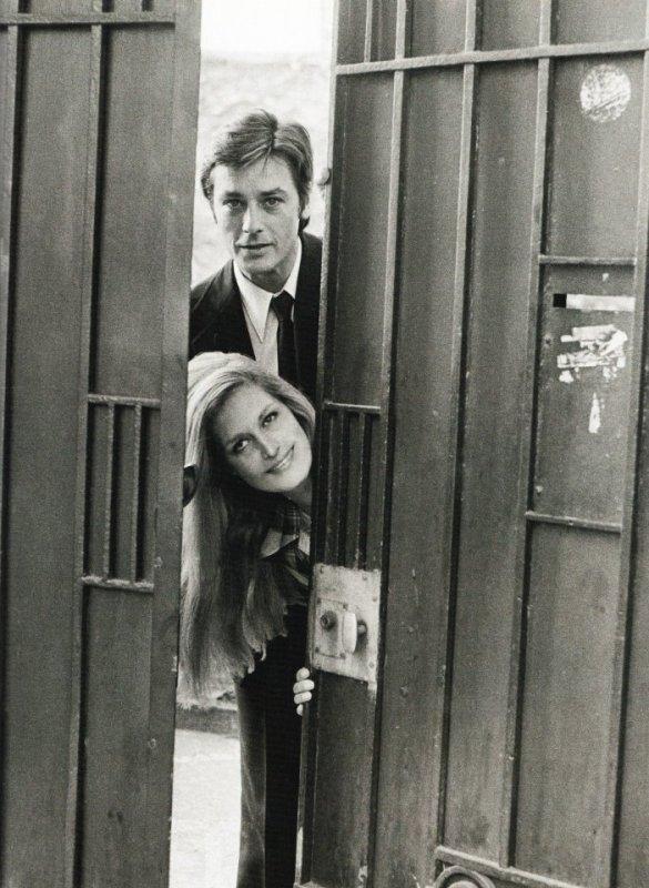 Dalida et Alain Delon