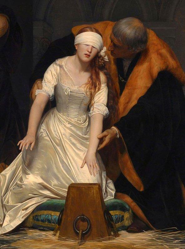 L'exécution de Lady Jane Grey est une peinture à l'huile par Paul Delaroche achevé en 1833