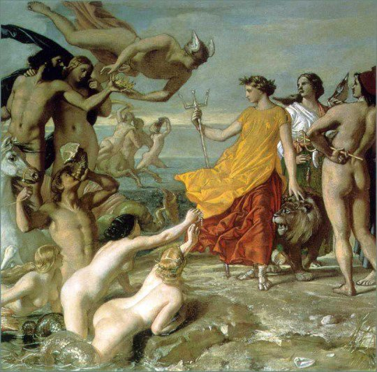 William Dyce - Neptune résigner à Britannia L'empire de la mer