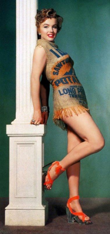 Marilyn Monroe voulait prouver qu'elle serait bien même dans un sac de pommes de terre, 1951