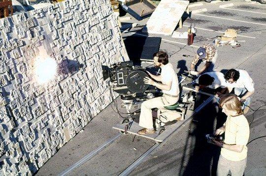ILM tournage explosions pour l'attaque Death Star dans Star Wars en 1977