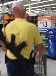 Arme dans l'épicerie
