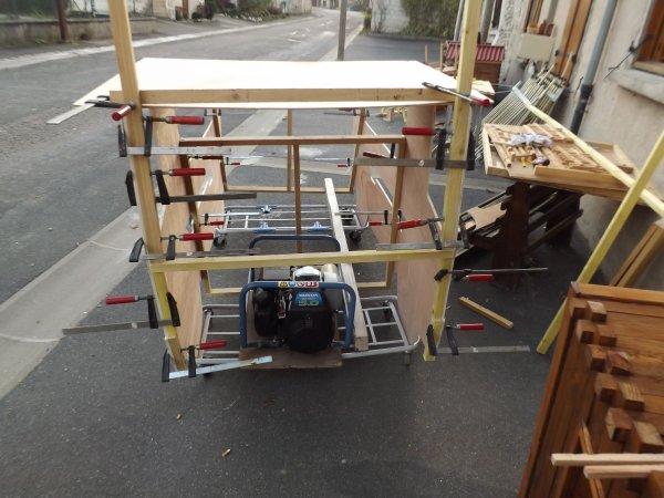 Voici mes travaux en cours Travail à la chaine MiniBois