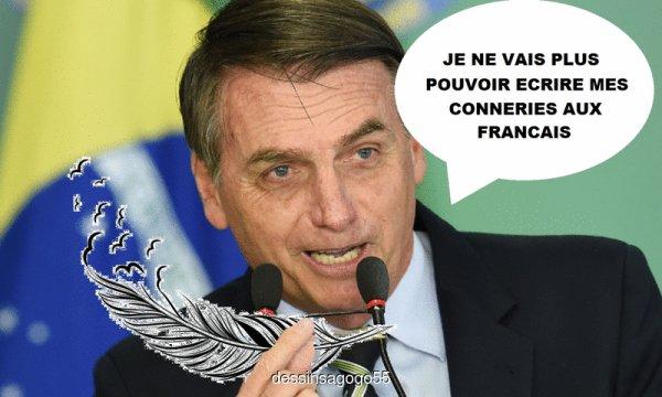 Jair Bolsonaro à la plume