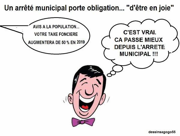 """Un arrêté municipal porte obligation... """"d'être en joie"""""""