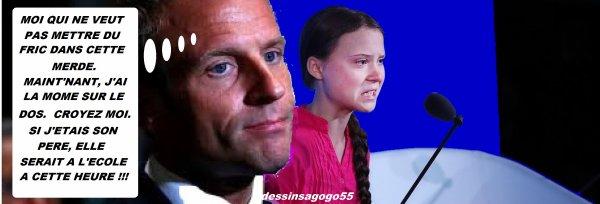 """""""Radicale"""", """"haine"""": la volte-face d'Emmanuel Macron et de son gouvernement sur Greta Thunberg"""