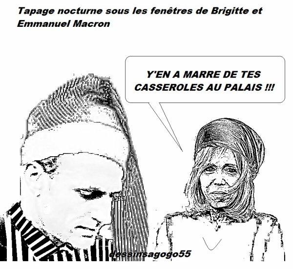 Tapage nocturne sous les fenêtres de Brigitte et Emmanuel Macron