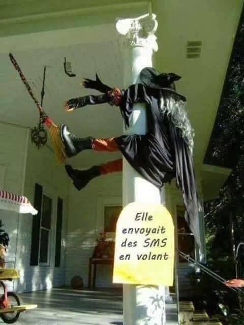 Halloween : SMS en volant