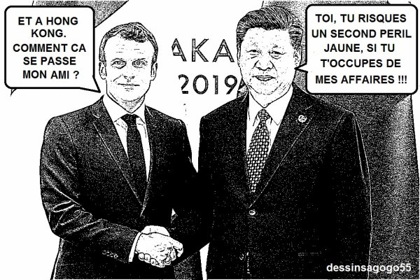 """La Chine accueille """"l'ami"""" Macron mais l'invite à ne pas se mêler de la crise à Hong Kong"""