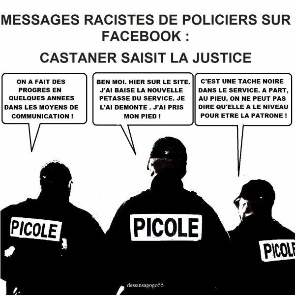 Messages racistes de policiers sur Facebook : Castaner saisit la justice