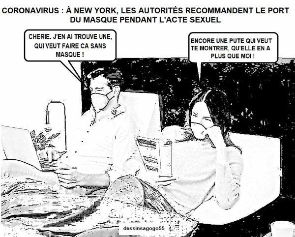Coronavirus : à New York, les autorités recommandent le port du masque pendant l'acte sexuel  2