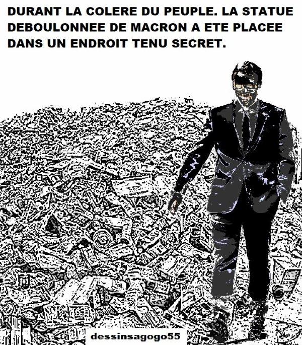 Emmanuel Macron a déclaré que la République n'effacerait aucune trace ni aucun nom de son histoire
