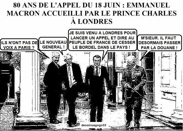 80 ans de l'Appel du 18-Juin : Emmanuel Macron accueilli par le prince Charles à Londres