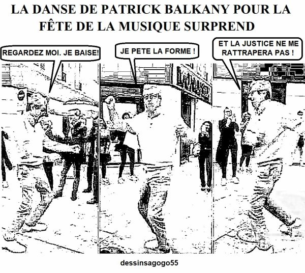 La danse de Patrick Balkany pour la Fête de la musique surprend