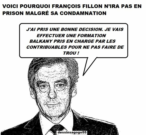 VOICI POURQUOI FRANÇOIS FILLON N'IRA PAS EN PRISON MALGRÉ SA CONDAMNATION