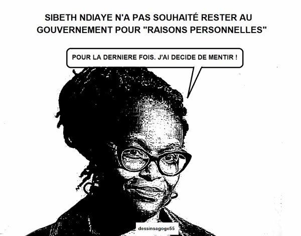 """SIBETH NDIAYE N'A PAS SOUHAITÉ RESTER AU GOUVERNEMENT POUR """"RAISONS PERSONNELLES"""""""