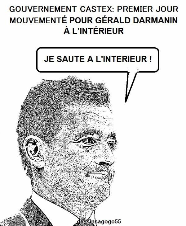 Gouvernement Castex: Premier jour mouvementé pour Gérald Darmanin à l'Intérieur