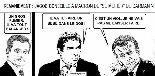 """Remaniement : Jacob conseille à Macron de """"se méfier"""" de Darmanin"""