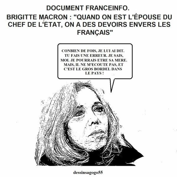 """Brigitte Macron : """"Quand on est l'épouse du chef de l'État, on a des devoirs envers les Français"""""""