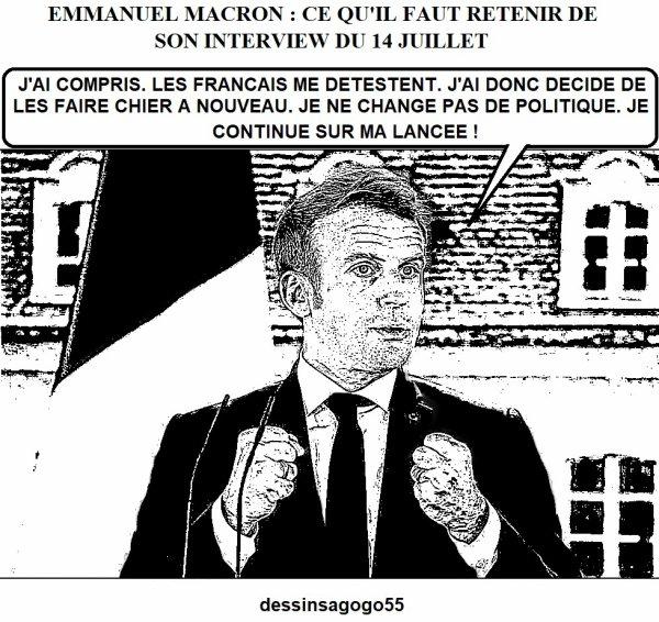 Emmanuel Macron : ce qu'il faut retenir de son interview du 14 juillet