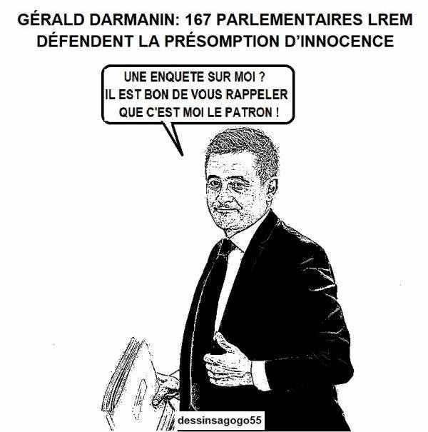 Gérald Darmanin: 167 parlementaires LREM défendent la présomption d'innocence
