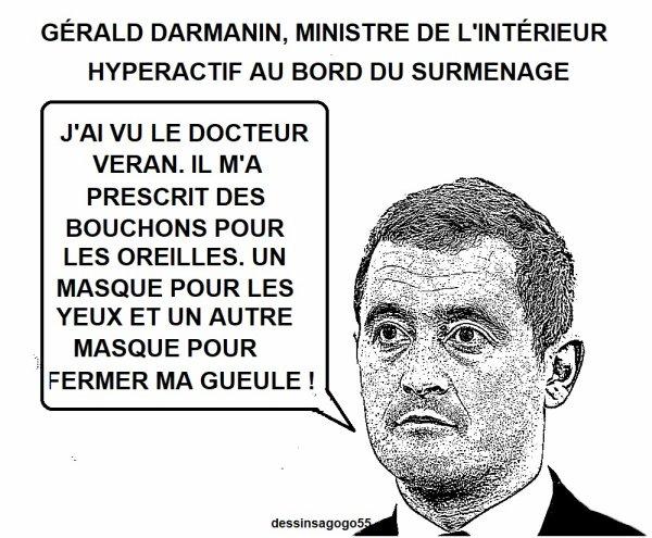 Gérald Darmanin, ministre de l'Intérieur hyperactif au bord du surmenage