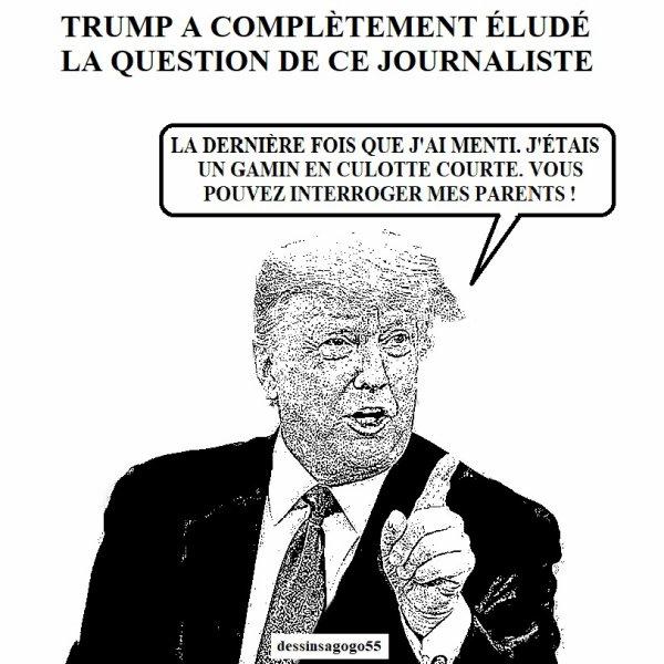 Trump a complètement éludé la question de ce journaliste