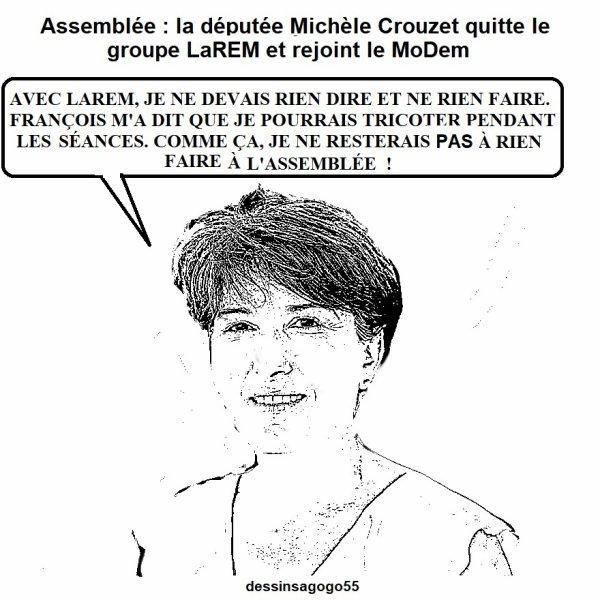 Assemblée : la députée Michèle Crouzet quitte le groupe LaREM et rejoint le MoDem