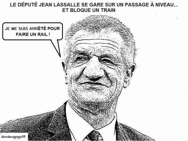 Le député Jean Lassalle se gare sur un passage à niveau... et bloque un train