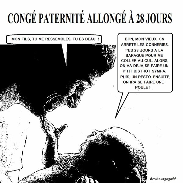 Congé paternité allongé à 28 jours