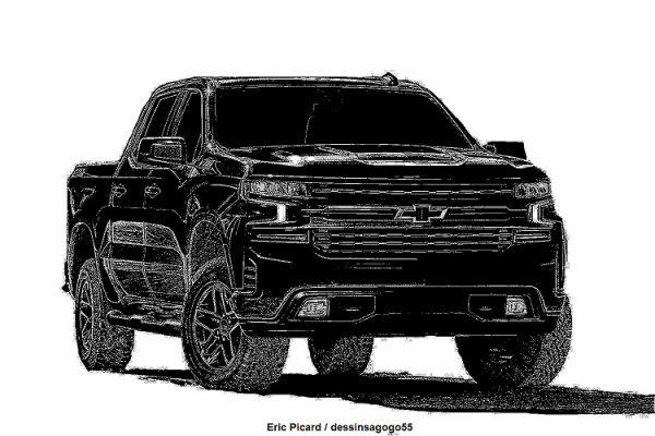 Chevrolet Silverado 1500 Midnight Edition : dessinsagogo55