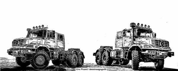 Mercedes-Benz Zetros : dessinsagogo55