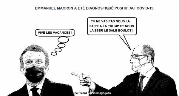 Emmanuel Macron a été diagnostiqué positif au Covid-19