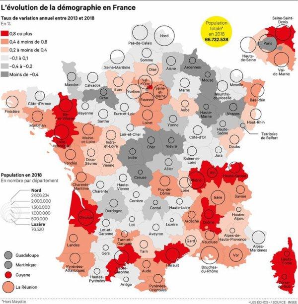Recensement : de plus en plus de départements voient leur population baisser