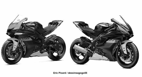 Yamaha R6 2021 : dessinsagogo55