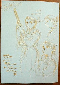 Voilà à quoi aurait du ressembler Roy et Riza au départ dans Fma x)