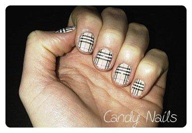 #18` Burberry Nails