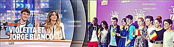 Jorge en compagnie de Martina alias Violetta en Belgique sur RTL INFO : http://www.rtl.be/info/magazine/culture/violetta-dans-le-rtl-info-19h-voici-son-conseil-a-toutes-les-petites-filles-qui-revent-de-devenir-comme-elle-707611.aspx