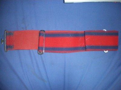 Sursangle de transport rouge/bleu