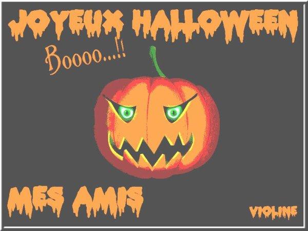 Aujourd'hui c'est ....Halloween !