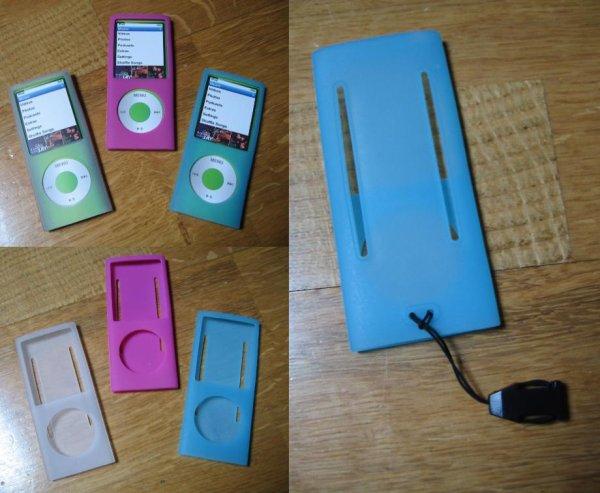 Housse silicone iPod Nano 4éme génération *4eu/pièce* (ou 10eu le lot)