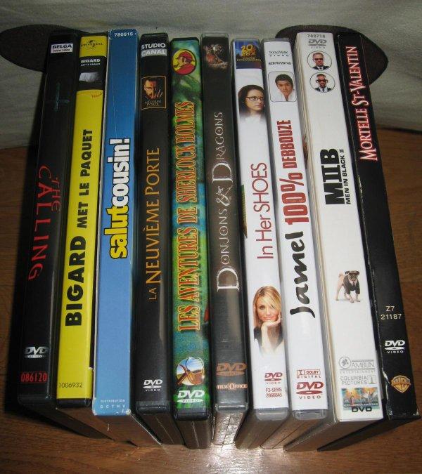 DVD : MIIB (collector) 7eu, tous les autres entre 2 et 5eu /pièce