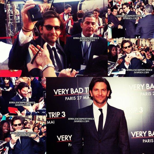 27/05/13 - Bradley à la Première française de Very Bad Trip 3 ♥    Ainsi que l'équipe du film au Grand Rex à Paris + Tapis rouge