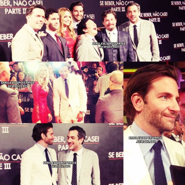 28/05/13 - Bradley à la première de Very Bad Trip III à Rio De Janeiro ♥    Ainsi que l'équipe du film + Tapis rouge