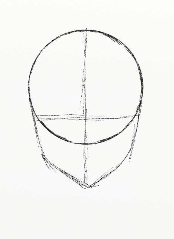 Cours de dessin 1/2 - une tête de manga