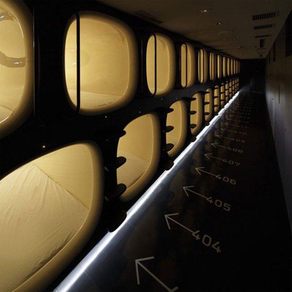 Les hôtel-capsule japonais !