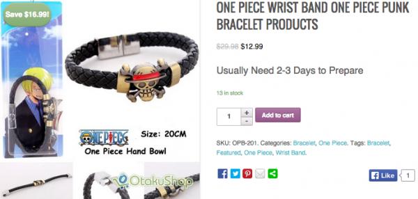 Bracelets otaku !