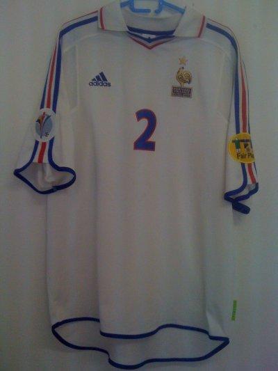 Maillot porté lors de la 1/2 finale de l'Euro 2000 par Candela face au Portugal