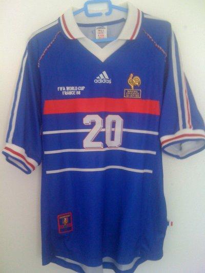 Maillot porté lors de la finale de la coupe du monde le 12 Juillet 1998 par David Trezeguet