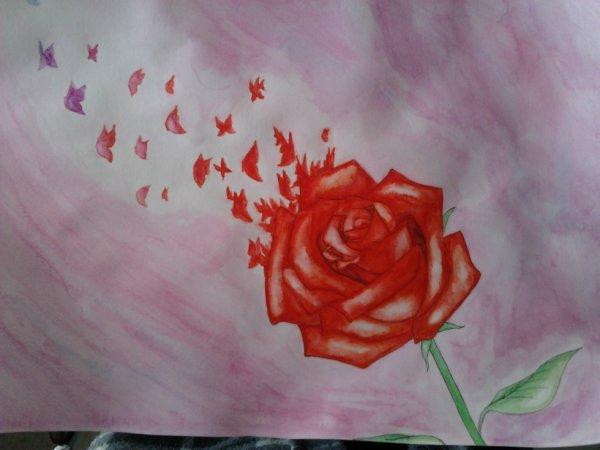 Dessin Pour Une Amie Sur Le Thème De L'amour